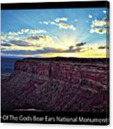 Sunset Valley Of The Gods Utah 03 Text Black Canvas Print