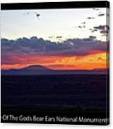 Sunset Valley Of The Gods Utah 05 Text Black Canvas Print