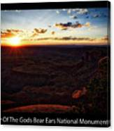 Sunset Valley Of The Gods Utah 11 Text Black Canvas Print