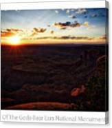 Sunset Valley Of The Gods Utah 11 Text Canvas Print