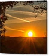 Sunset Vienna West Virginia Canvas Print