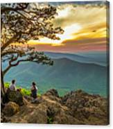 Sunset View At Ravens Roost Panorama Canvas Print