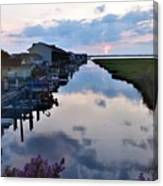 Sunset View At The Art League Of Ocean City - Maryland Canvas Print