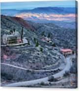 Sunset View From Jerome Arizona Canvas Print