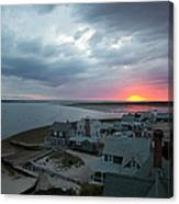 Sunset View From Sandy Neck Light Canvas Print