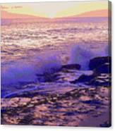 Sunset, West Oahu Canvas Print