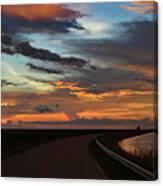 Florida Sunset Winding Road Canvas Print