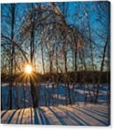 Sunset Winter Shadows Canvas Print