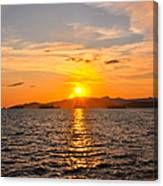 Sunset With Halo Canvas Print