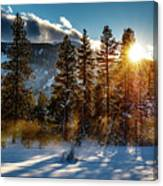 Sunset With Trees Canvas Print