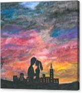 Sunset With You Canvas Print