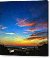 Sunset X Impasto Canvas Print