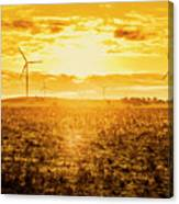 Sunsets And Golden Turbines Canvas Print
