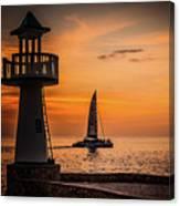 Sunsets And Sailboats Canvas Print