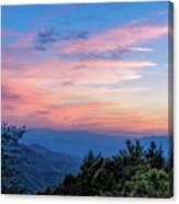Sunset's Blue Hour Canvas Print