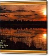 Sunsettia Gloria Catus 1 No. 1 L A. With Decorative Ornate Printed Frame. Canvas Print