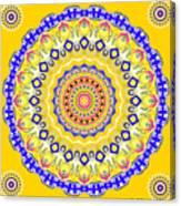 Sunshine And Blue Skies Mandala Canvas Print