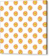 Sunshine Daisy Repeat Canvas Print