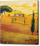 Sunshine In Tuscany In The Morning Canvas Print