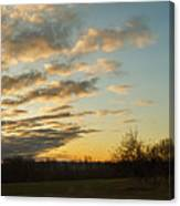 Sunup On The Farm Canvas Print