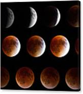 Super Blood Moon Eclipse Canvas Print