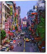 Super Colorful City Canvas Print