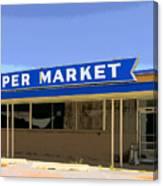 Super Market Canvas Print