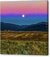 Super Moon Over Taos Canvas Print
