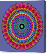 Super Rainbow Mandala Canvas Print