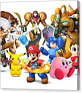 Super Smash Bros. For Nintendo 3ds And Wii U Canvas Print