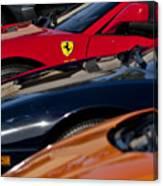 Supercars Ferrari Emblem Canvas Print