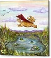 Superdog Buttons Canvas Print