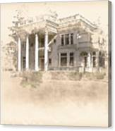 Superintendent's Home Drawing Canvas Print