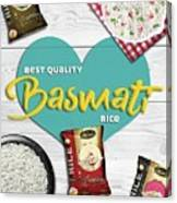 Superior Quality Basmati Rice Importers In New Zealand - Kashish Food Canvas Print