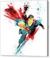 Superman Abstract Canvas Print