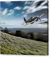 Supermarine Spitfire Fly Past Canvas Print