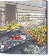 Supermarket Produce Section Canvas Print