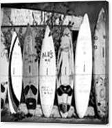Surf Board Fence Maui Hawaii Square Format Canvas Print