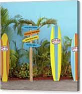 Surf Boards At Ron Jon's Canvas Print