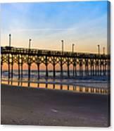 Surf City Fishing Pier Canvas Print