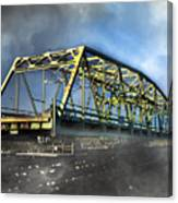 Surf City Nc Swing Bridge Canvas Print