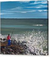 Surf Fishin Canvas Print