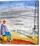Surf Fishing Canvas Print
