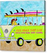 Surf School Canvas Print