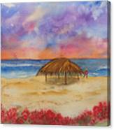 Surf Solitude Canvas Print