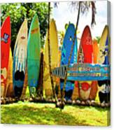 Surfboard Fence II-the Amazing Race Canvas Print