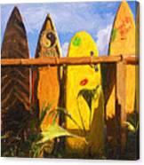 Surfboard Garden Canvas Print