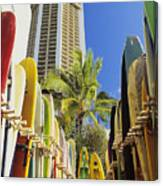 Surfboard Stack Canvas Print