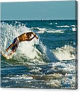 Surfboarding In Florida Canvas Print