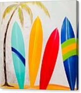 Surfboards II Canvas Print